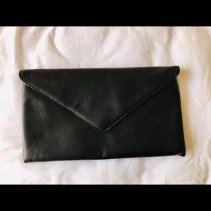 ⚡️SOLD⚡️ Crew Black Leather Envelope Clutch